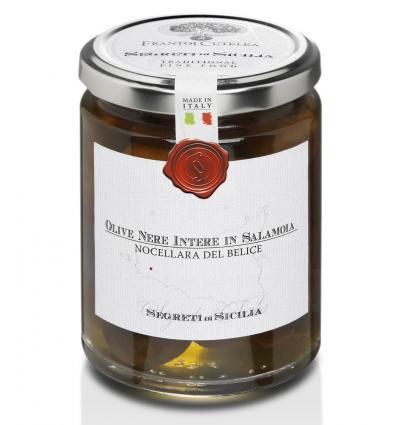 Olive nere intere in salamoia (Cutrera) - Segreti di Sicilia