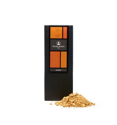Cioccolato di Modica con scorza d'arancia (Dolceria Bonajuto)