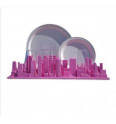 Scolapiatti e set da scrivania Inception rosa (Seletti)